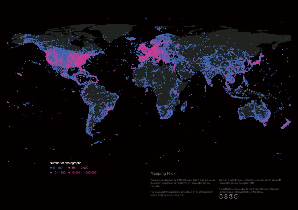 Map of Flickr activity worldwide