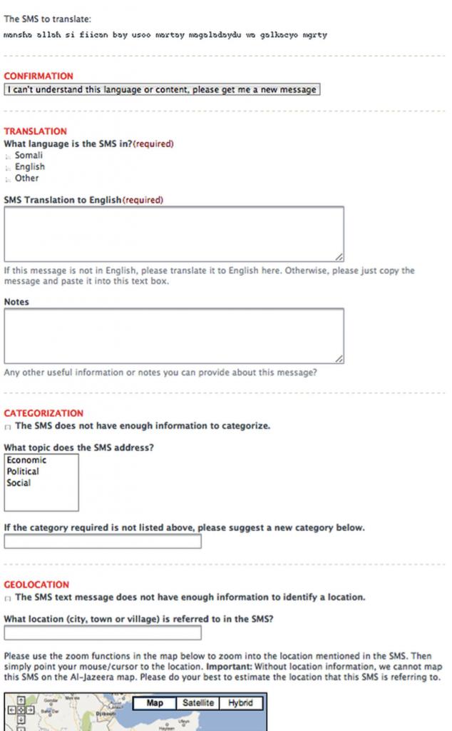 SMS-translation