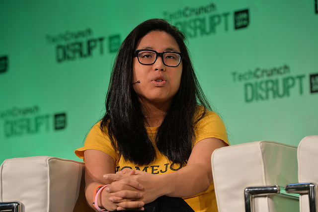 Homejoy CEO Adora Cheung appears on stage at the 2014 TechCrunch Disrupt Europe/London, at The Old Billingsgate on October 21, 2014 in London, England. Image: TechCruch (Flickr)