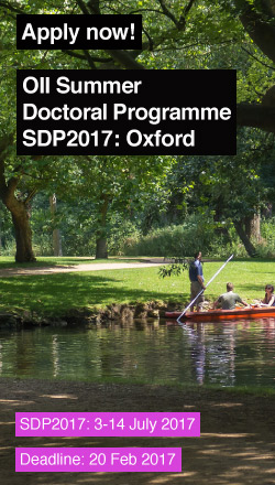 Apply for Summer Doctoral Programme 2017, 3-14 July 2017 (application deadline on 20 Feb 2017)